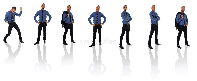 Clone africano dell'uomo d'affari fotografia stock libera da diritti