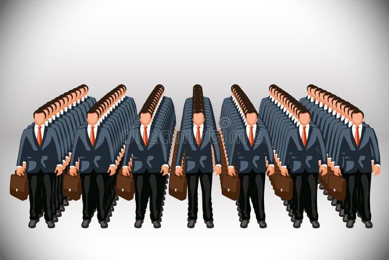 Clone d'affaires illustration libre de droits
