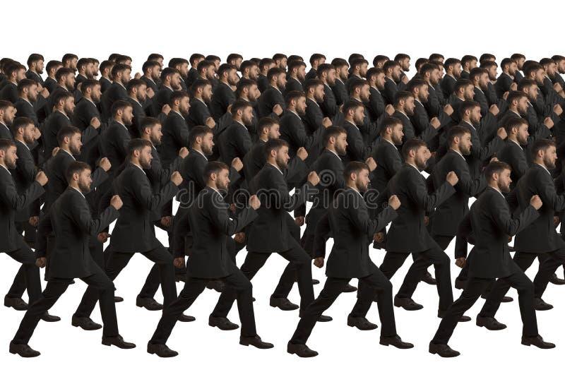 Clone de marcha no fundo branco fotos de stock royalty free
