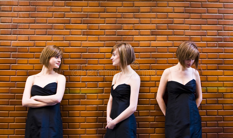 Download Cloned Woman In Different Expressions Stock Photo - Image: 4879410