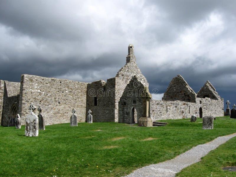 Clonmacnoise, Ierland royalty-vrije stock afbeeldingen