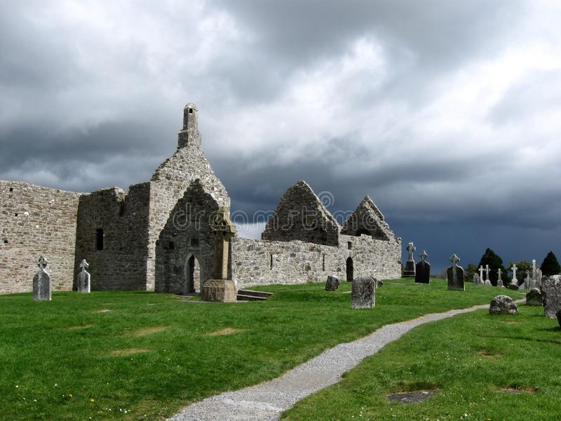 Clonmacnoise, Ierland royalty-vrije stock foto