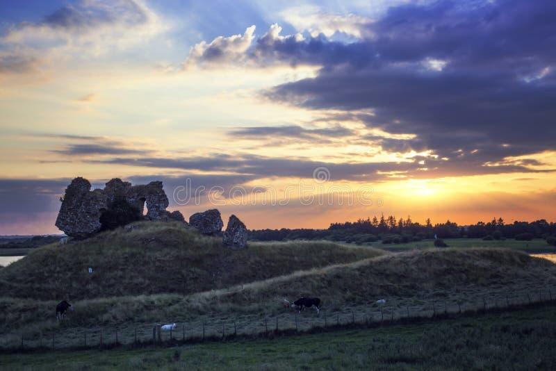 Clonmacnoise kasztelu ruiny fotografia royalty free