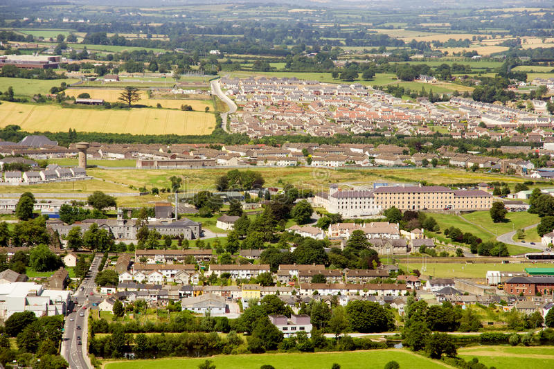 Clonmel in Ireland. Clonmel town, view from the hill, County Tipperary, Ireland stock photography