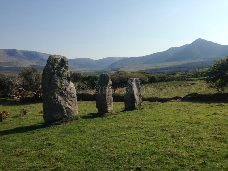 Cloonsharragh Standing Stones, Dingle Peninsula stock photo