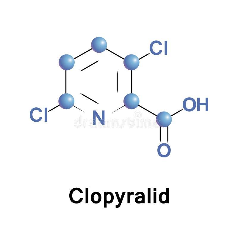 Clopyralid é um herbicida seletivo ilustração stock