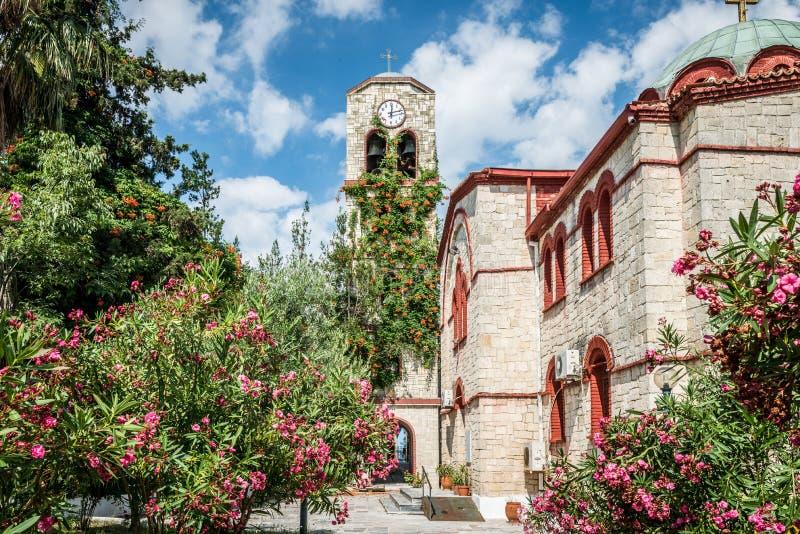 Clorful Greek Church stock photo