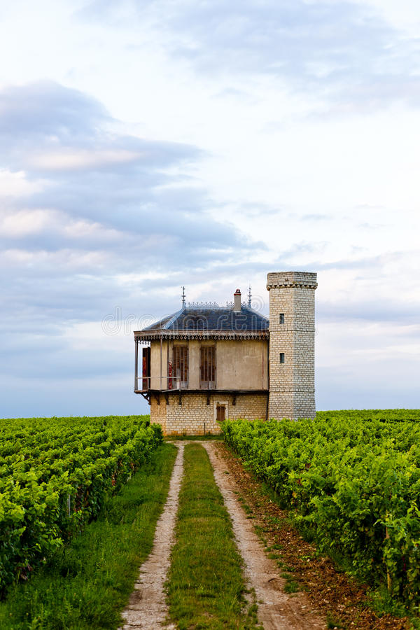 Clos Blanc De Vougeot Castelo foto de stock