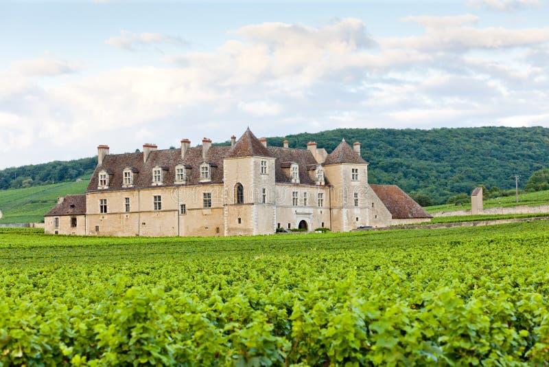 Clos Blanc De Vougeot Castelo fotografia de stock royalty free