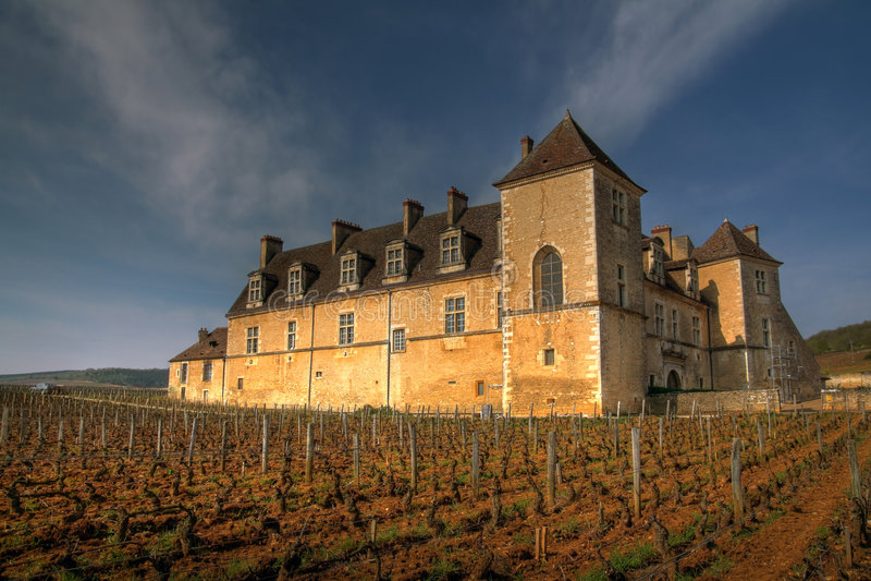 Clos de Vougeot, Borgonha, France imagens de stock royalty free