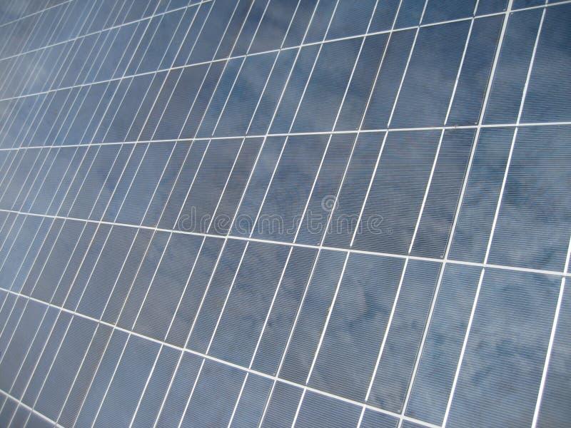 Clos del modulo di sistema di energia solare fotografie stock