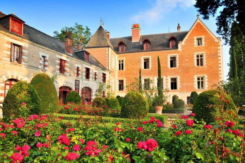 Clos Luce herrgård i Amboise Leonardo da Vinci bodde här för de sista tre åren av hans liv och dog, Frankrike arkivfoton