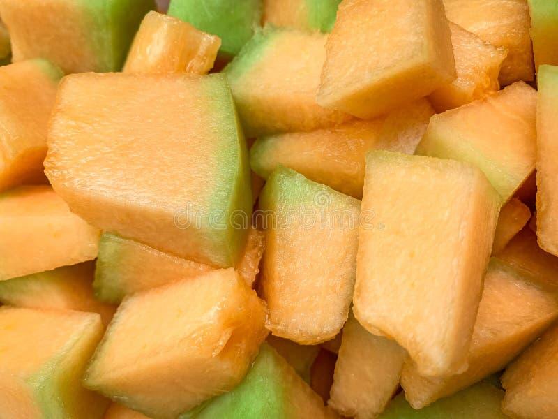 Clos vers le haut de melon d'or images stock