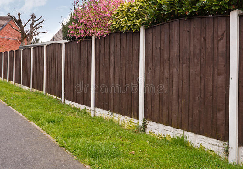 Close board fencing panels royalty free stock photo