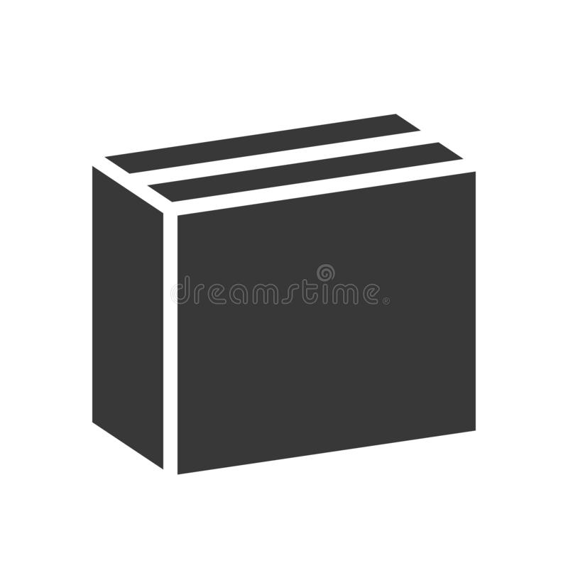 Close box, shipping and delivery concept set, glyph icon stock illustration