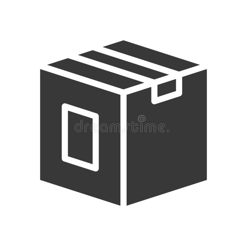 Close box, shipping and delivery concept set, glyph icon royalty free illustration