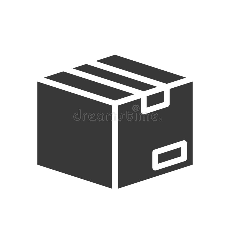 Close box, shipping and delivery concept set, glyph icon vector illustration
