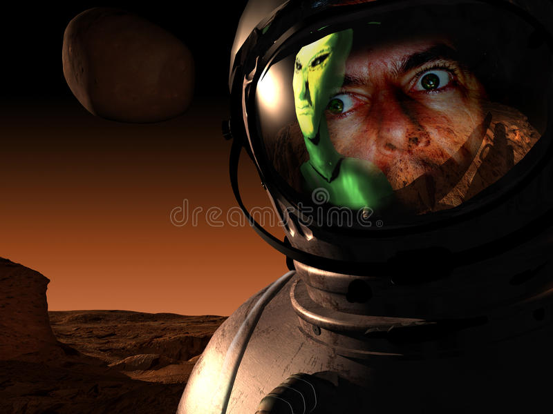 Download Close encounter stock illustration. Image of giant, grisly - 14250598