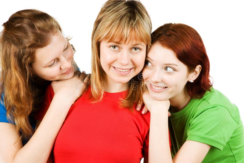 Close friends royalty free stock photos