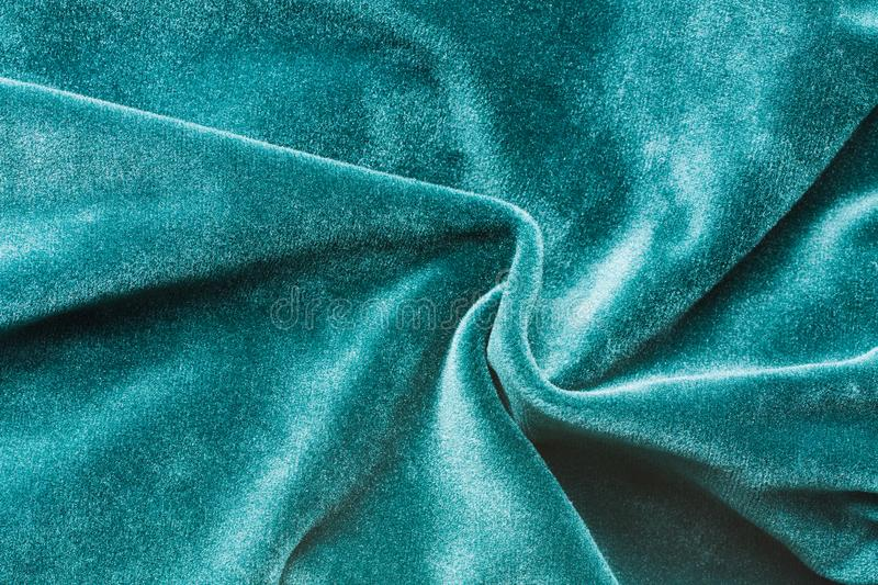 Green Soft Fabric Of Velvet Velour Emerald Color. royalty free stock photography