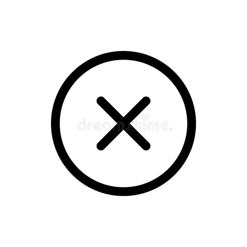 Close icon, delete symbol. Illustration for web site or mobile app royalty free illustration