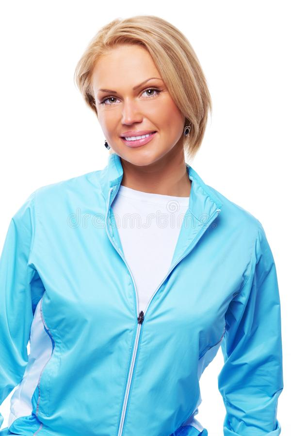 Image of beautiful woman. Close image of yoga trainer. Image of beautiful woman stock photo