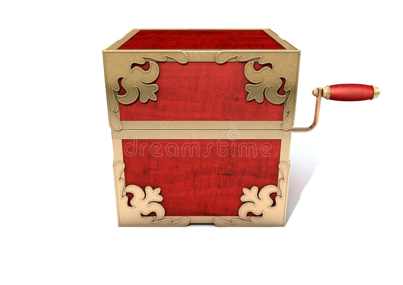 Close Jack-In-The-Box Antique vector illustration