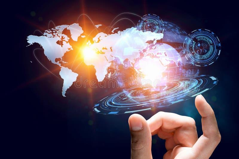 Creating innovative technologies . Mixed media royalty free stock photography