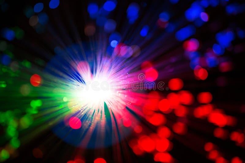 Close op of fiber optics stock photography