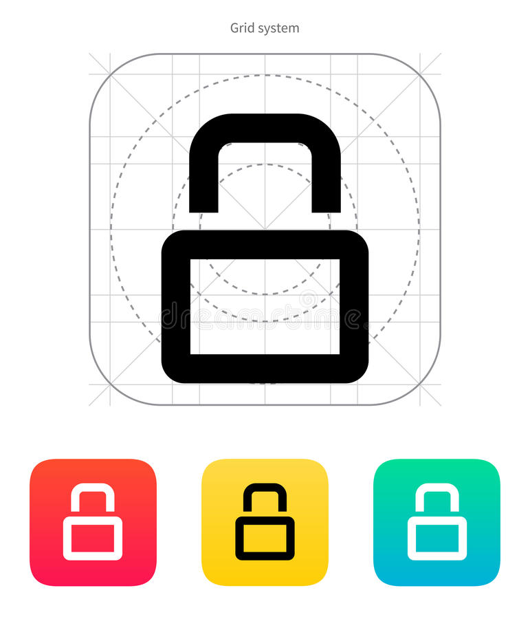 Download Close padlock icon. stock vector. Image of keyhole, buttons - 33996032