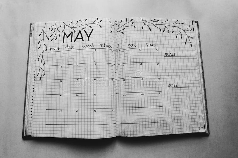 Close Photo of May Calendar Book royalty free stock photos