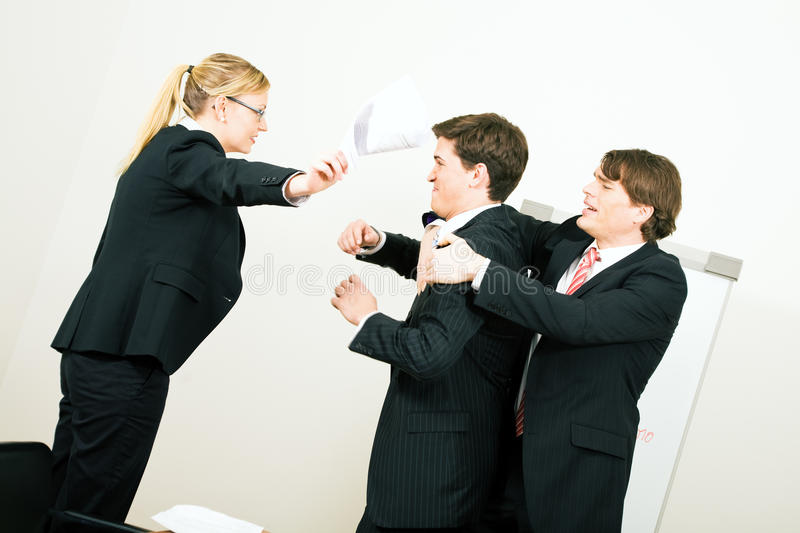 Close to a box fight royalty free stock photo