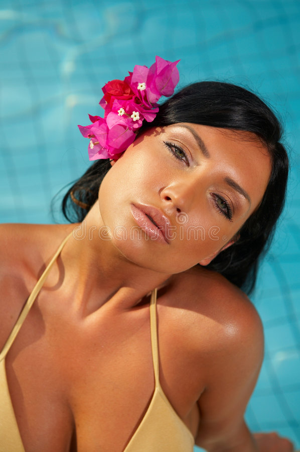 Close to pool. royalty free stock images