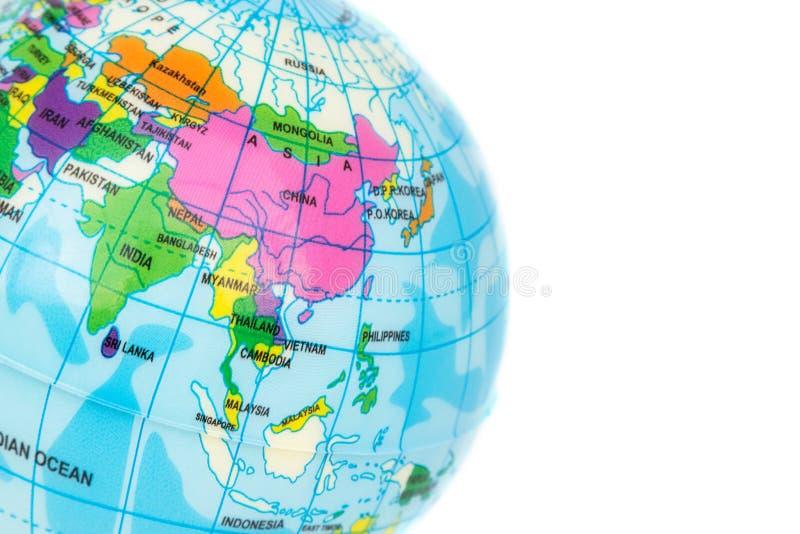Close up Ásia do modelo do globo foto de stock royalty free