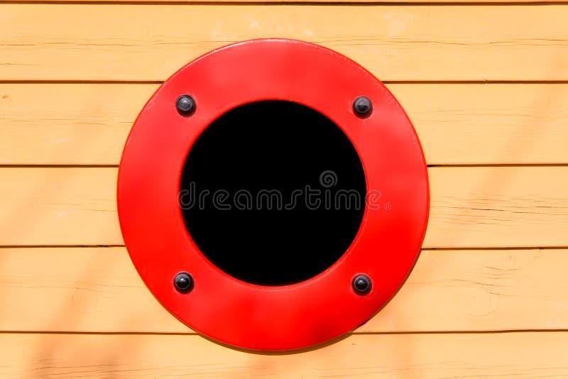 Close-up łódkowaty porthole zdjęcia royalty free