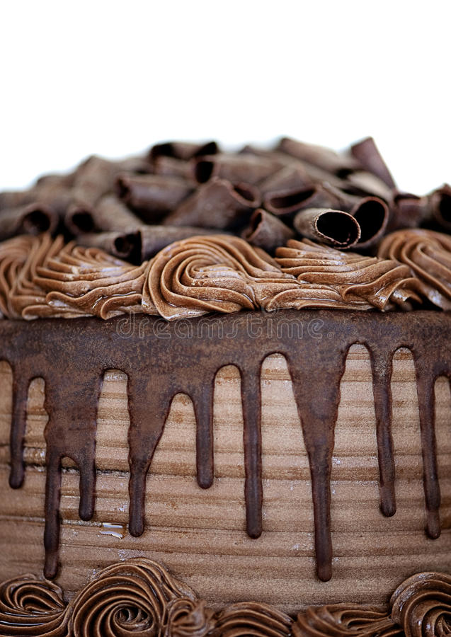 Close-up торта шоколада стоковая фотография rf