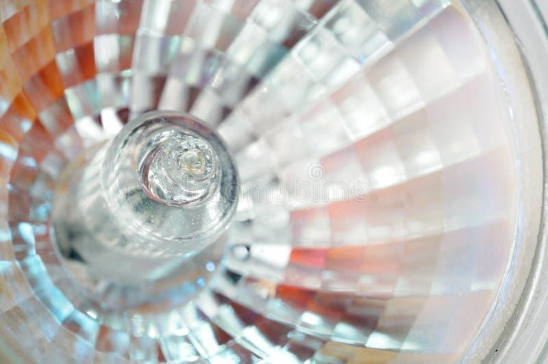 Close-Up электрической лампочки галоида стоковая фотография rf