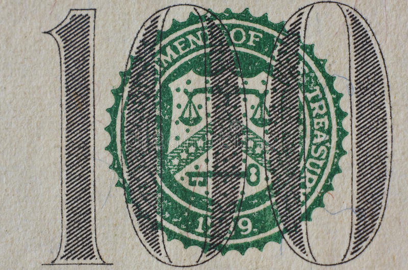 Close-up Of $100 Banknote Royalty Free Stock Images