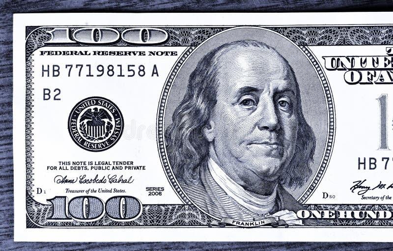 Close-up 100 Dollars Royalty Free Stock Photo