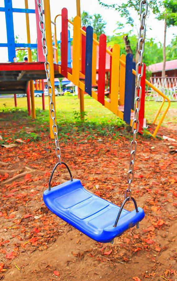 Free Close Up A Swing In Playground. Royalty Free Stock Photo - 34854635