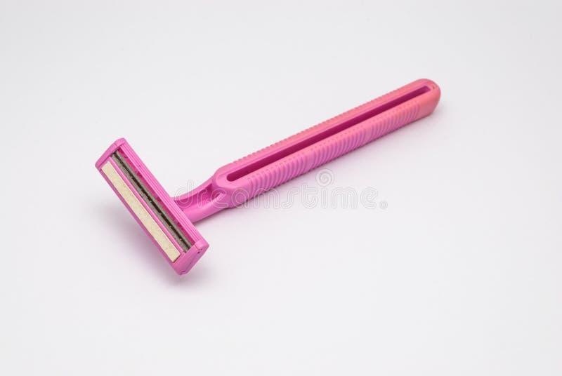 Close-up aan Oud Vuil Gebruikt Roze Tweeling Geïsoleerd Bladenscheermes, royalty-vrije stock afbeeldingen