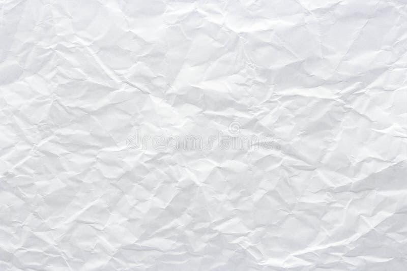 Close-up aan witte verfrommelde document textuurachtergrond, samenvatting royalty-vrije stock afbeelding