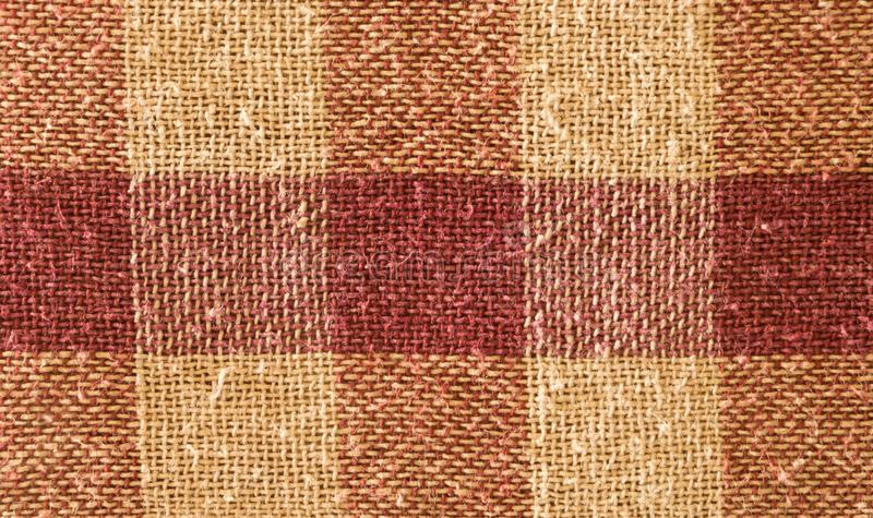 Close up abstract of block checked shape cotton print fabric background. Seamless colorful cloth textile texture of light stock photography