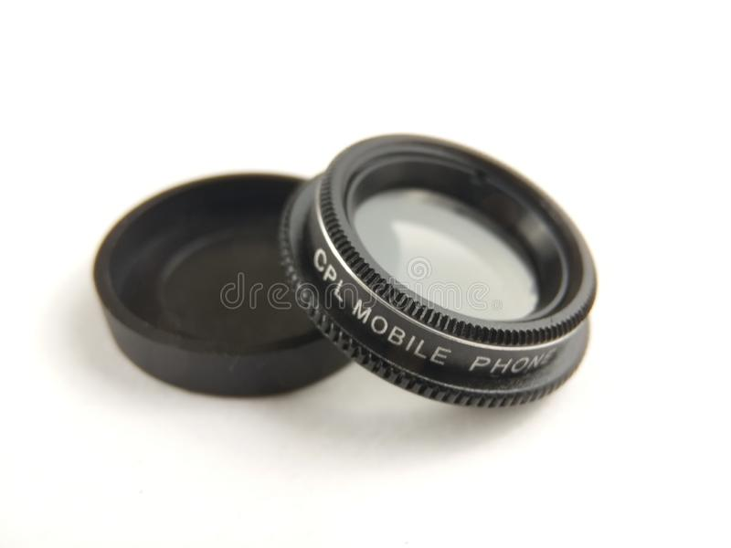 Close Up Accessories for Mobile Phone Photography, CPL, Circular Polarizer. Accessories for Mobile Phone Photography, CPL, Circular Polarizer stock images