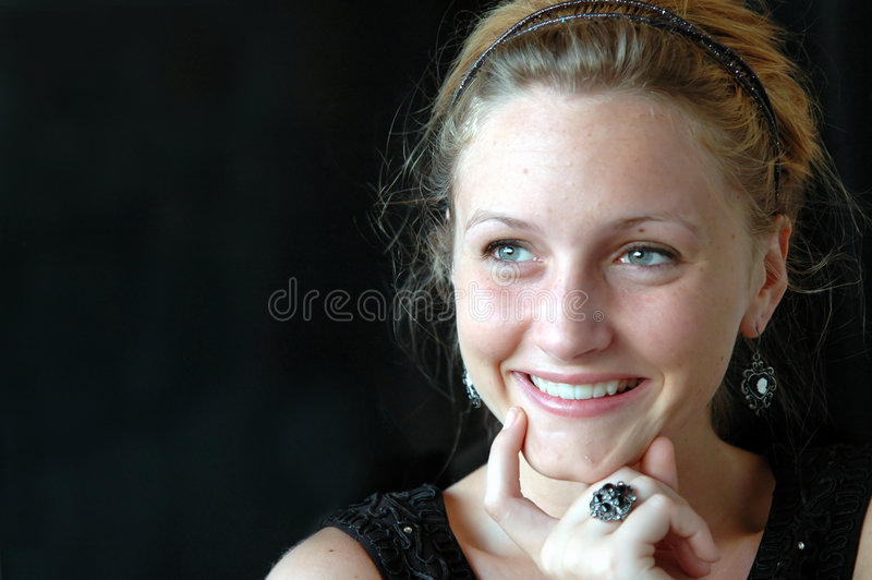 Close-up adolescente de pensamento foto de stock royalty free