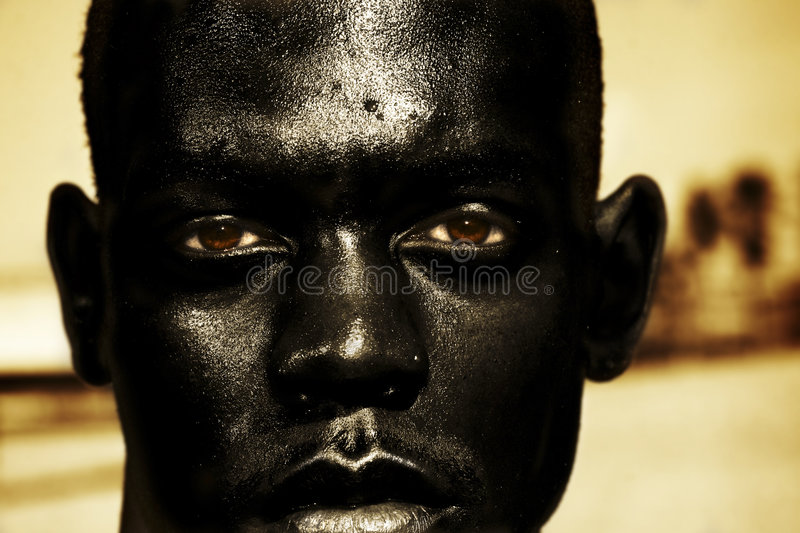 Close up of African man stock images