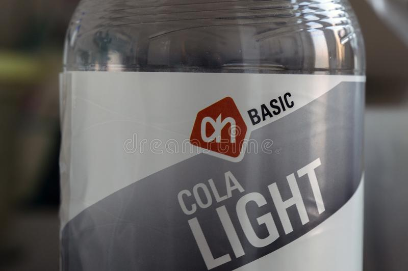 Close Up Of A AH Cola Light Bottle At Amsterdam The Netherlands 2019 royalty free stock photos