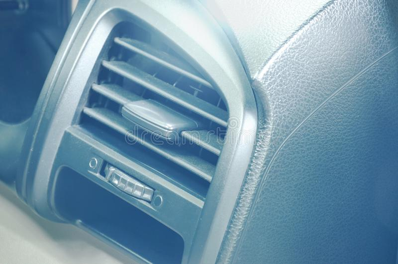 Close up of air conditioner hole in car royalty free stock photos