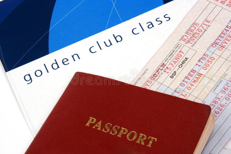 Close Up on Airline Ticket stock photos