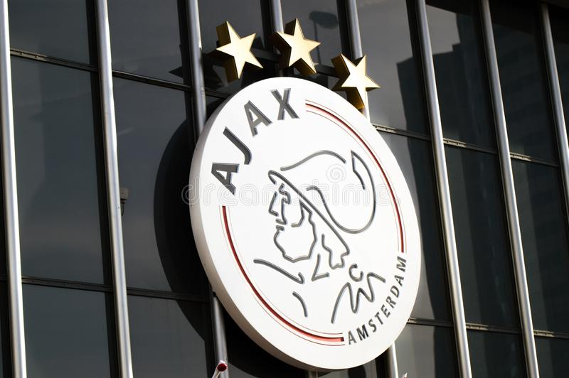 close-up-ajax-logo-amsterdam-netherlands